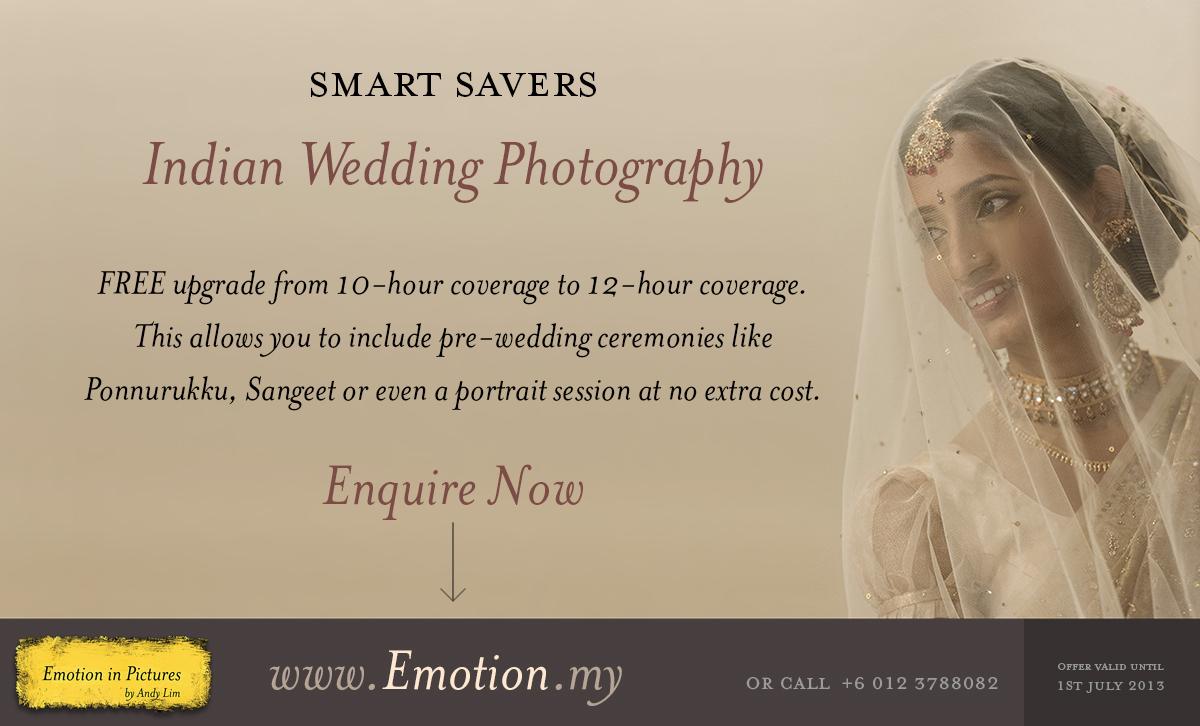 Limited Time Smart Saver For Indian Wedding Photography Wedding Photographer Malaysia