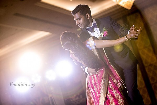 indian-wedding-reception-first-dance-grand-dorsett-subang